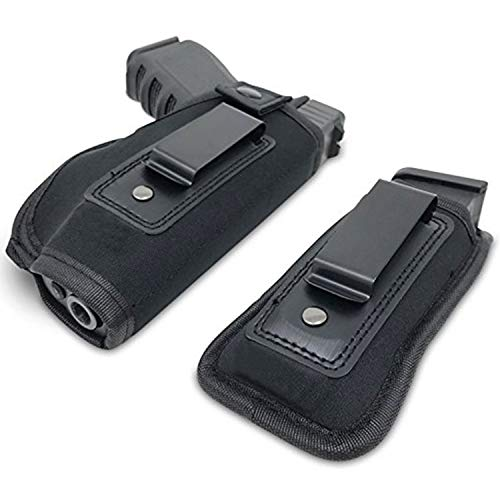 ENJOY OUTDOOR IWB Gun Holster Concealed Carry Inside The Waistband | Fits All Firearms S&W M&P Shield 9/40 1911 Taurus PT111 G2 Sig Sauer Glock 19 17 27 43 (Right-Handed)]()