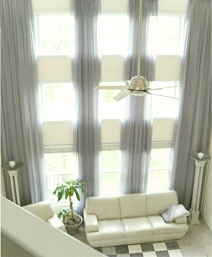 Ikiriska 2 Long Curtains For High Ceiling Custom Made Length 16 24 Feet Drapes