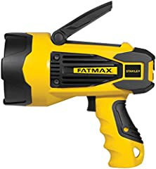 The STANLEY FATMAX SL10LEDS is a 10W Lithium Ion rechargeable spotlight. This ultra-bright LED delivers up to 920 lumens; allowing you to illuminate even the darkest of work areas, whether at home, in a vehicle, camping, or during a roadside ...