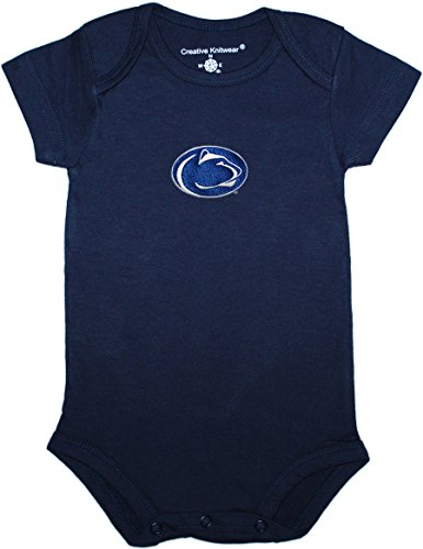 Creative Knitwear Penn State Newborn Baby Clothes, Lions, Boy and Girl College Bodysuit