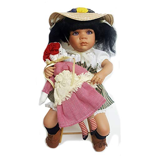 Linda Steele JCPenney Fine Porcelain African-American Doll Jodie 15
