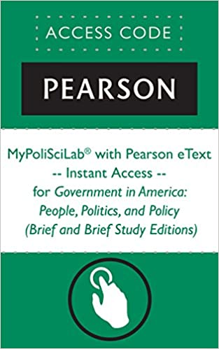 MyPoliSciLab With Pearson EText Instant Access For