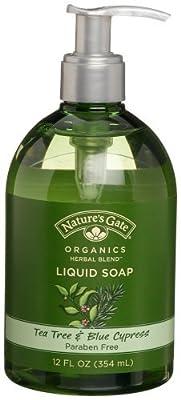 Nature's Gate Organics Liquid Hand Soap, Tea Tree & Blue Cypress, 12-Ounce Bottles, (Pack of 3)
