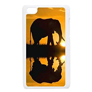 Animal Elephant Customized Durable Hard Plastic Case Cover LUQ142434 For Ipod Touch 4