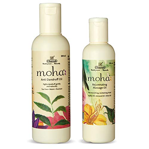 moha: Anti Dandruff Oil 200 ml with free Rejuvanating Massage Oil 100 ml (Combo of 2) product image