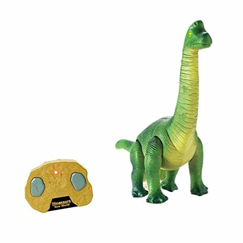 Liberty Imports Dino Planet Remote Control R/C Walking Dinosaur Toy with Shaking Head, Light Up Eyes and Sounds (Brachiosaurus) by Liberty Imports (Image #2)