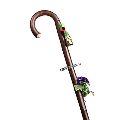 Étage de professionnel des Pères étage avec cloche, Bouquet Et Bouteilles bâton de marche, Marron, M