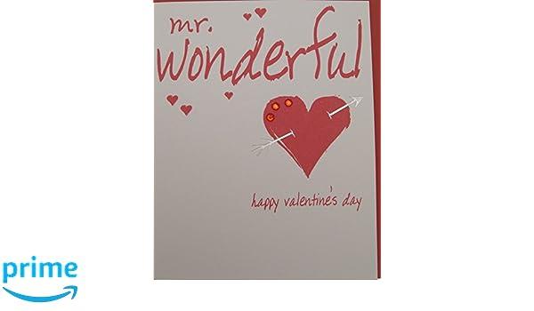 White Cotton Cards Mr Wonderful Happy Valentine s Day ...