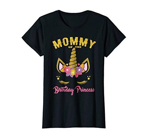 (Mommy of the Birthday Princess Unicorn Girl T Shirt)