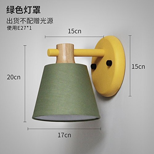 Adjustable Clip-on Lamp Lampshade With LED Bulb (Green) - 7