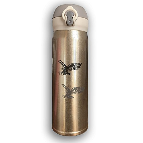 YUC-CP 17oz Double Wall Vacuum Cool Insulation Hot Water Bottle Stainless Steel Freedom Eagle.PNG Leak - Proof Travel Coffee Mug With Lid,Keeps Cold And Hot by YUC-CP