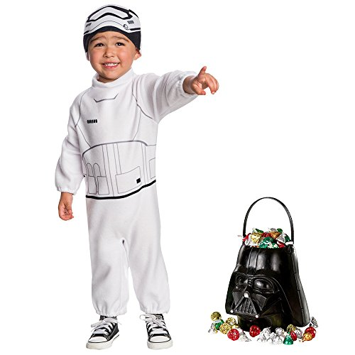 Star Wars Episode VII: The Last Jedi - Stormtrooper Toddler Costume and Candy Pail Bundle]()