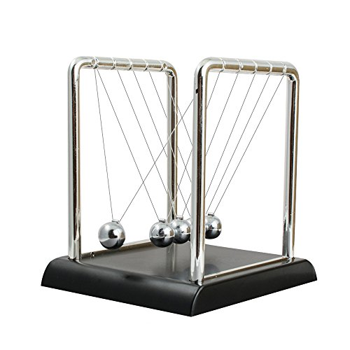 Funwill Classic Newtons Cradle Balance Ball Desktop Orbital Desk Decoration for Home and Office Art Work Kit-Silver & Black by Funwill