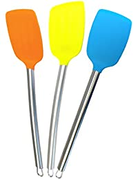 CheckOut 12x Kitchen Utensils Large Silicone Serving Mixing TURNER SPATULA with Heat Resistant Silicone and Stainless Steel... opportunity