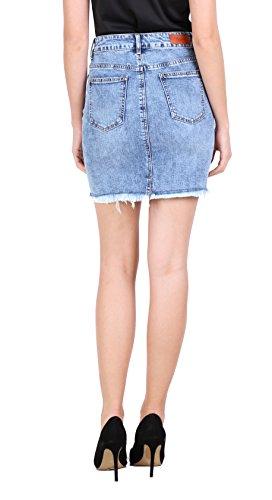 Stretch Jupe en Mini Jeans XL Denim Courte du Jupe TOXIK3 Jupe Femme Crayon Jean Casual XS Jupe au 6 7fqn5