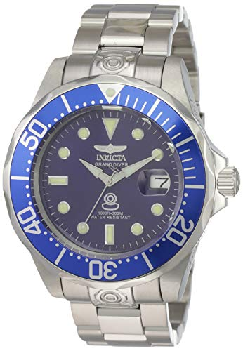 Invicta Men's 3045 Pro-Diver Collection Grand Diver Stainless Steel Automatic Watch with Link Bracelet (Invicta Watch 47mm)