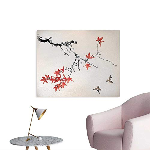 841eefef2d Tudouhoho Japanese Cool Poster Cherry Blossom Sakura Tree Branches Romantic  Spring Themed Watercolor Picture Photographic Wallpaper