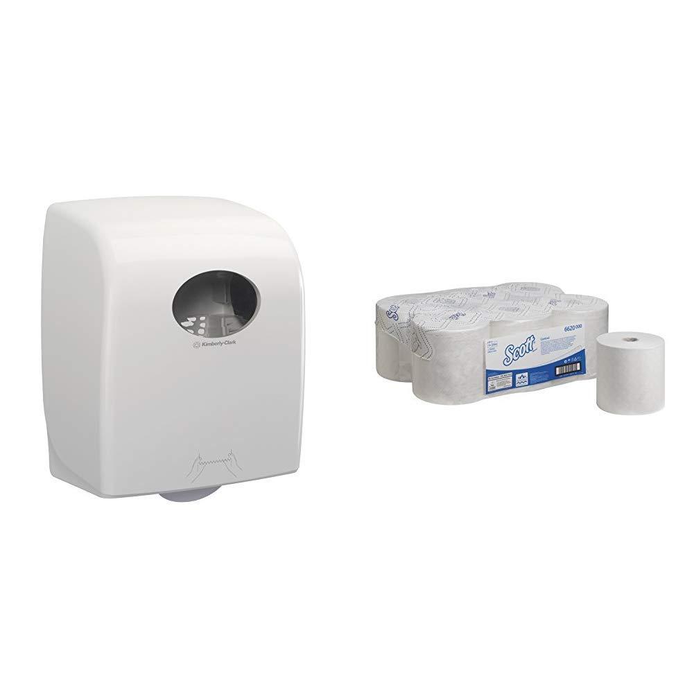 1 x 1 Dispenser Aquarius 7375 Rolled Hand Towel Dispenser White