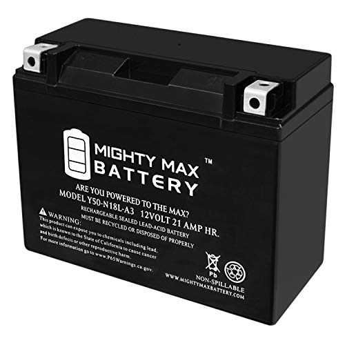 (Mighty Max Battery Y50-N18L-A3 UTV Battery for Arctic Cat 650cc Prowler 650 2007 Brand Product)