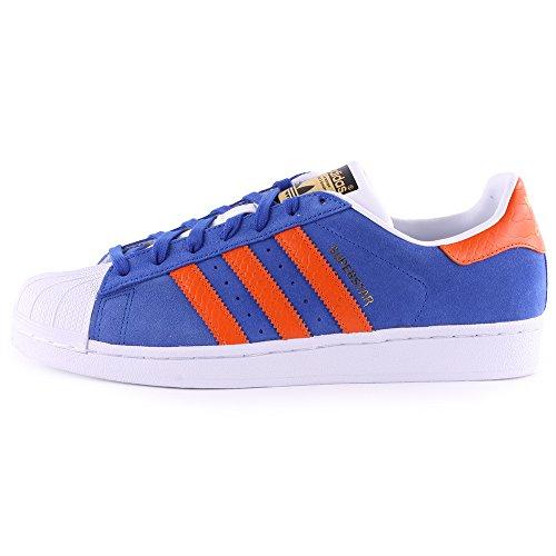 Adidas Superstar East Womens Suede Trainers Blue Orange - 39-1/3 EU