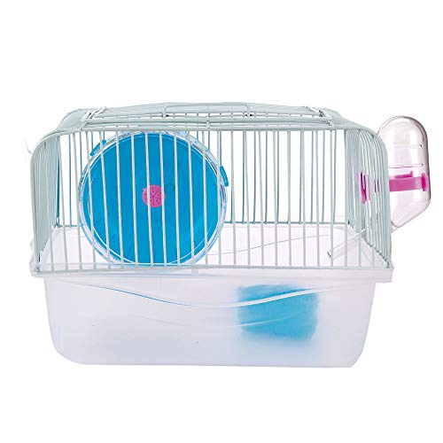SMOOTHEDO Hamster Cage Transparent Pet Portable Carrier Carry Case Cottage Small Animal Habitat