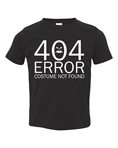 Dancing Participle Girl's Toddler 404 Error Costume Not Found T-Shirt, 2T, (Nerdy Toddler Halloween Costumes)