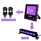 UV LED Black Light(385-400nm),High Power 10W Ultra Violet UV LED Flood Light IP66-Waterproof (85V-265V AC) for Blacklight PartySupplies,Neon Glow,Glow in The Dark,Curing???Party Li