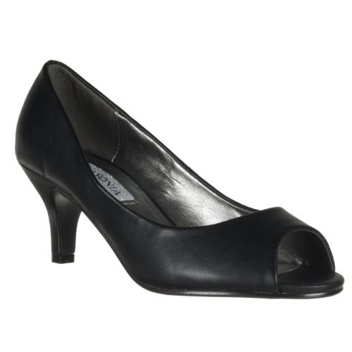 Pompe À Pied Peep Toe Noire M2571 De Lasonia Womens Black Wet