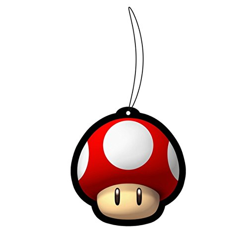 (Super Mario Bros. Official Power-up Magic Red Mushroom Air Freshener - Strawberry Scent, 3