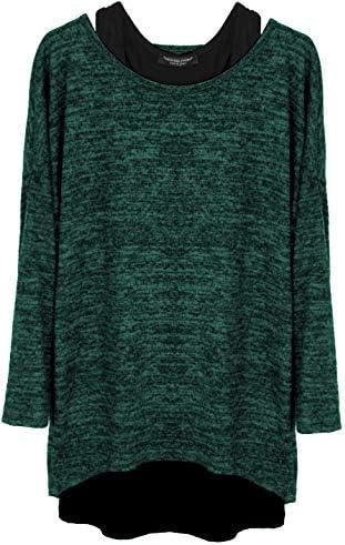 Emma & Giovanni - rękaw 3/4 sweter (2 sztuki) / Made in Italy - damski: Odzież