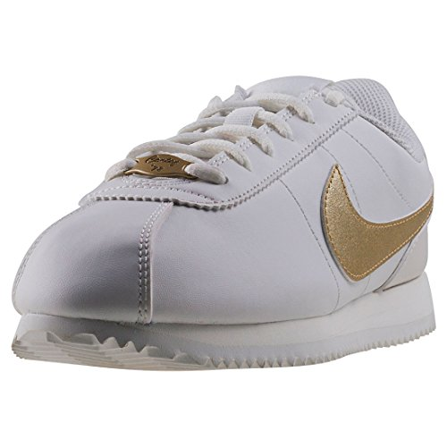 105 White Summit White Fitness White Shoes Gold Mtlc Adults' Nike Sigs Star Basic Unisex Cortez SXwxv6