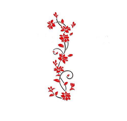 MulisY Adesivi Murali da Parete, Removibili Sticker Decorativi Parete Decorazioni per Camera da Letto, Soggiorno, La cucina, Asilo Nido, Stanza del Bambini (Rosso)