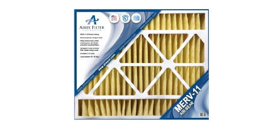 20x25x5 Air Bear Replacement Filter - MERV 11 - Highest Quality - 2 Pack - Actual Size: 19 ⅝ X 24 1/8 X 4 ¾