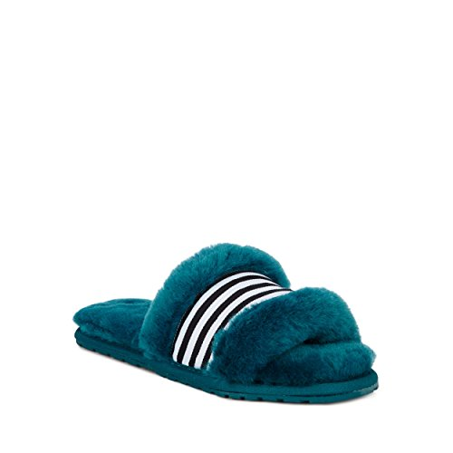 Slippers Sheepskin Australia EMU Wrenlette Womens Teal Slipper aFvcq6
