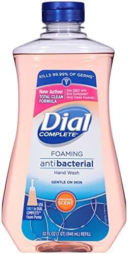 Dial Complete Antibacterial Foaming Hand Soap Refill, Original Scent, 32 Fluid Ounces