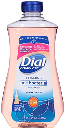 Dial Complete Antibacterial Foaming Hand Soap Refill, Original Scent, 32 Fluid Ounces