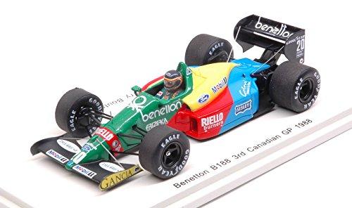 BENETTON B188 T.BOUTSEN 1988 N.20 3rd CANADIAN GP 1 43 - Spark Model - Formula 1 - Die Cast - Modellino