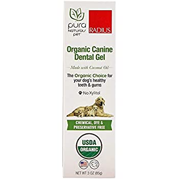 Pura Naturals Pet - Organic Canine Dental Gel, Natural Dog Toothpaste, No  Harsh Ingredients, Eco-Friendly (3 Ounce)
