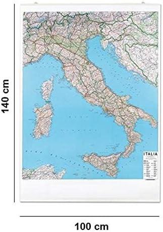 Www Cartina Stradale Italia.Carta Geografica Murale Italia Stradale 100x140 Amazon It Cancelleria E Prodotti Per Ufficio