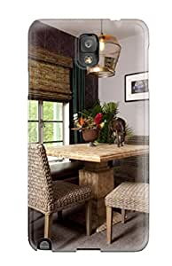 Series Skin Case Cover For Galaxy Note 3(breakfast Nook With Neutral Grey Paint And Wicker Chairs)