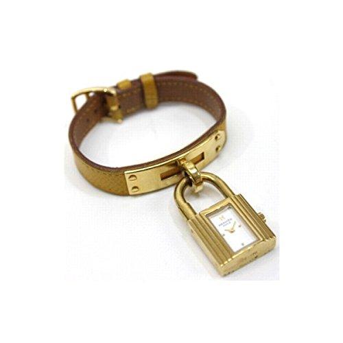 [エルメス]Hermes ケリーウォッチ レディース腕時計 クオーツ ゴールド×イエローベルト ホワイト文字盤 クシュベル Y刻 [中古] B01COVTSSC
