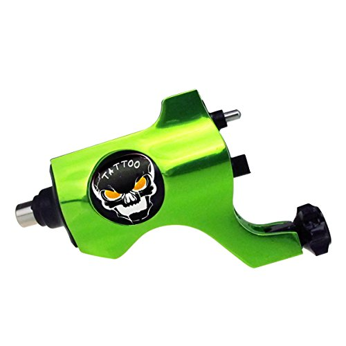 Solong Tattoo New Rotary Tattoo Machine Gun Shader Liner RCA Connection Green M654A-5