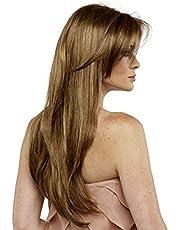 شعر مستعار طويل ومفرود باللون الاشقر الذهبي للنساء، طراز 0820-6