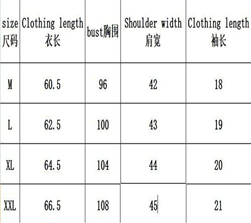 2018 Camiseta Manga Casual De Delgado Caqui Sequin Sueltos Mujer Smiley Verano Corta ggpYqxr