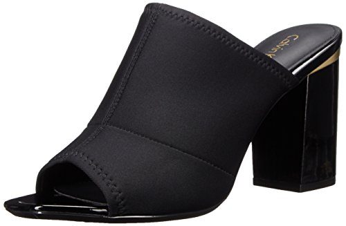 Dress Black Neoprene Klein Sandal Cice Women's Calvin qwBt8ZTcU