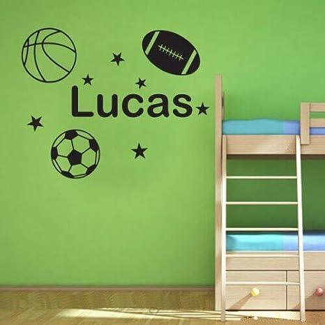 Pegatina de pared Ize Con Balón De Fútbol; Baloncesto; Adhesivo De ...