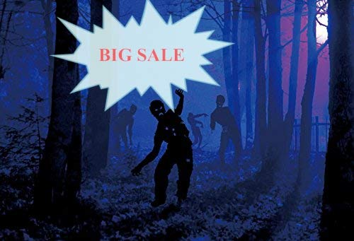 Baocicco Happy Halloween Backdrop 7x5ft Vinyl Photography Background Horror Night Gloomy Woods Costume Party Creepy Spooky Night Zombie Party Photo Studio Prop]()