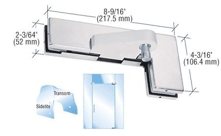 Polished Stainless Left Offset Sidelite Mounted Transom Patch Fitting by CR Laurence