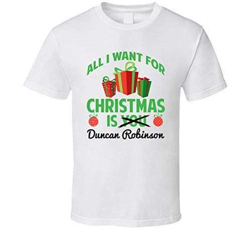 yeoldeshirtshop All I Want for Christmas is Duncan Robinson Miami Basketball Funny Fan T Shirt L White