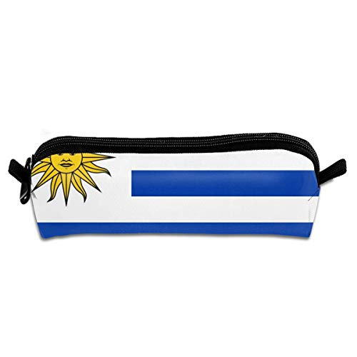 (Uruguay Flag Student Pencil Pen Case Zipper Pouch Small Cosmetic Makeup Bag Coin Purse for Kids Teens and Other School Supplies)